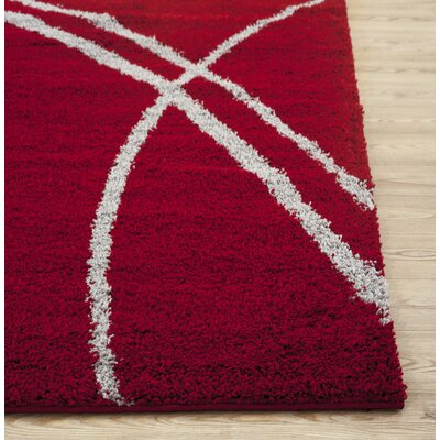 Florida Red/Gray Area Rug Rug Size: Rectangle 33 x 5