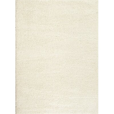 Caressa White Area Rug Rug Size: 5'3