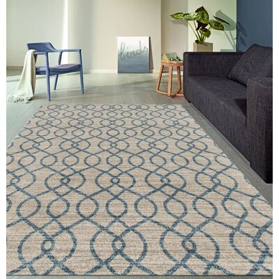 Elite Soft Blue Area Rug Rug Size: 53 x 73