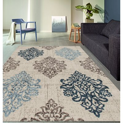 Elite Soft Blue Area Rug Rug Size: Rectangle 53 x 73