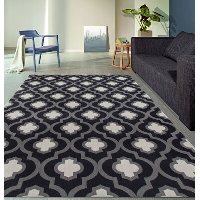 Elite Soft Dark/Gray Area Rug Rug Size: 53 x 73