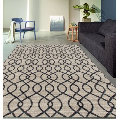 Elite Soft Cream Area Rug Rug Size: 53 x 73