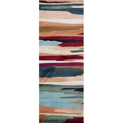 Loft Blue/Red Area Rug