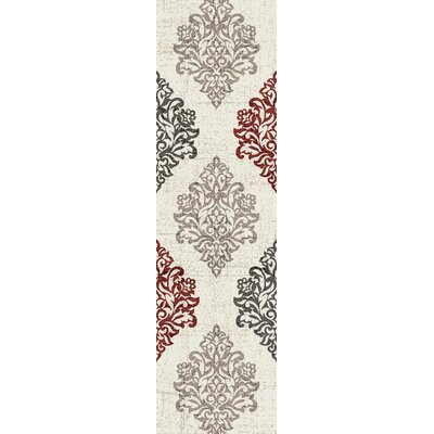 Elite Beige/Black/Brown Area Rug Rug Size: Runner 2 x 72