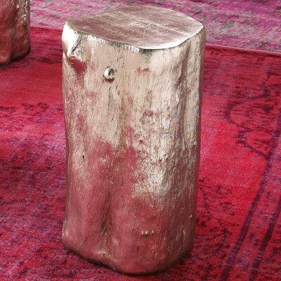 Log Stool Finish: Silver