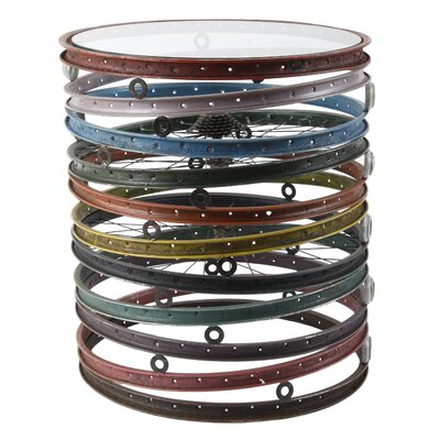Bicycle Wheel Drum End Table