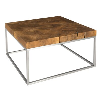 Teak Stainless Steel Coffee Table