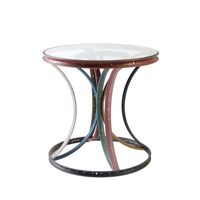 Cropsey Bicycle Rim Assorted End Table