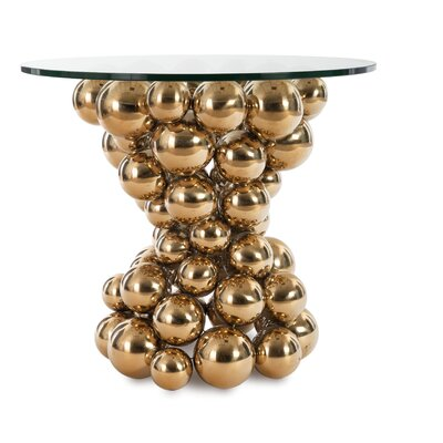 Frizzante End Table Color: Brass
