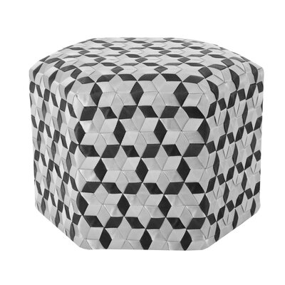 Chartrand Ottoman Upholstery: Black/Gray