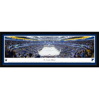 NHL Saint Louis Blues - End Zone by James Blakeway Framed Photographic Print NHLBLU2M