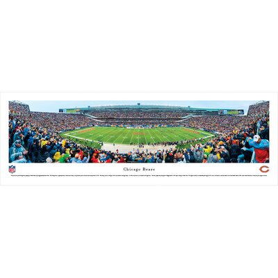 NFL Chicago Bears - 50 Yard Line by Robert Pettit Photographic Print