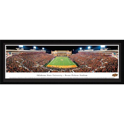 NCAA Oklahoma State University - End Zone by James Blakeway Framed Photographic Print OKSU3M