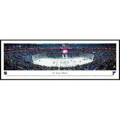 NHL St. Louis Blues Center Ice Framed Photographic Print NHLBLU3F
