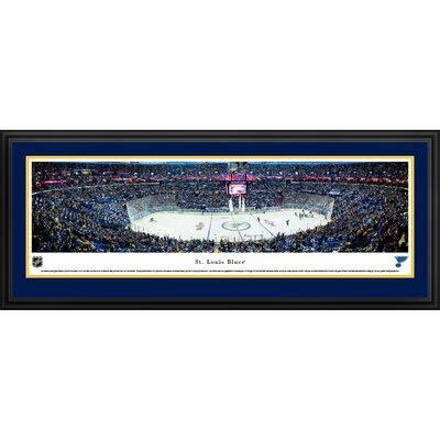 NHL St. Louis Blues Center Ice Framed Photographic Print NHLBLU3D