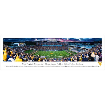 NCAA West Virginia Football 50 Yard Line Photographic Print WVU6