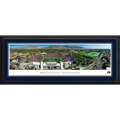 Ncaa Aerial -deluxe Framed Photographic Print Ncaa Team: Brigham Young University