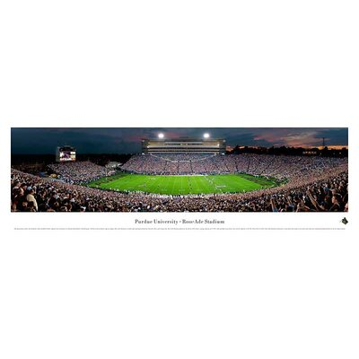 Ncaa 50 Yard Line Unframed Panorama Ncaa Team: Purdue University