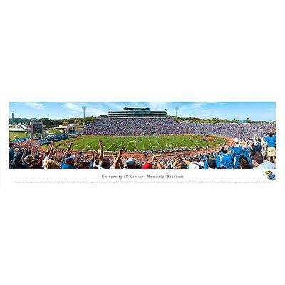 Ncaa 50 Yard Line Unframed Panorama Ncaa Team: University Of Kansas