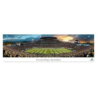 Ncaa 50 Yard Line Unframed Panorama Ncaa Team: University Of Oregon