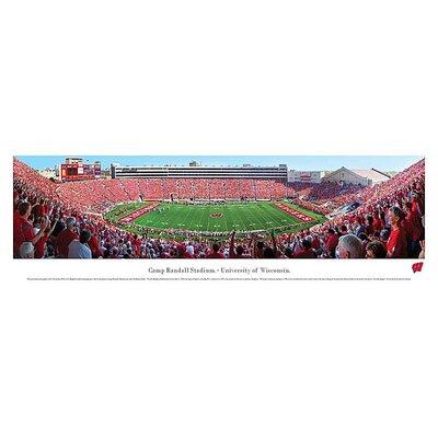 Ncaa 50 Yard Line Unframed Panorama Ncaa Team: University Of Wisconsin