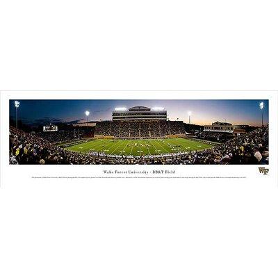 Ncaa 50 Yard Line Unframed Panorama Ncaa Team: Wake Forest University