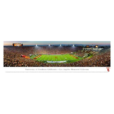 Ncaa 50 Yard Line Unframed Panorama Ncaa Team: University Of Southern Californa