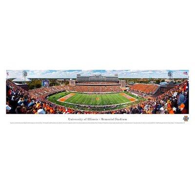Ncaa 50 Yard Line Unframed Panorama Ncaa Team: University Of Illinois