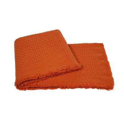 Modern Basketweave Throw Color: Hermes