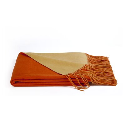 Reversible Wool Blend Throw Color: Hermes/Corn
