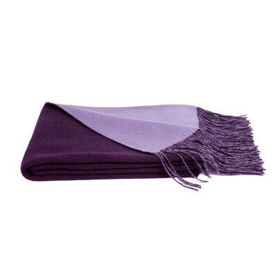 Reversible Wool Blend Throw Color: African Violet/Lavender