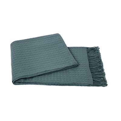 Waffle Weave Wool/Cashmere Blend Throw Color: Lake