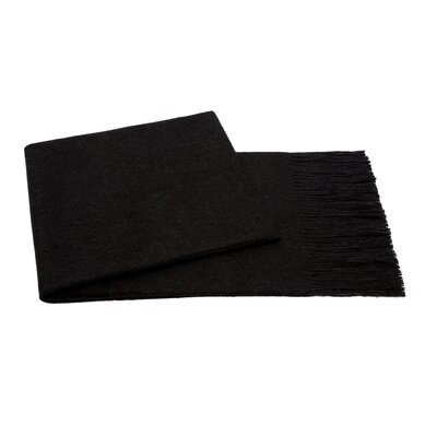 Baby Aplaca Wool Throw Color: Charcoal Grey
