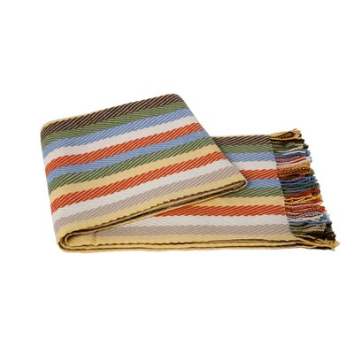 Chevron Wool Blend Throw Color: Multi