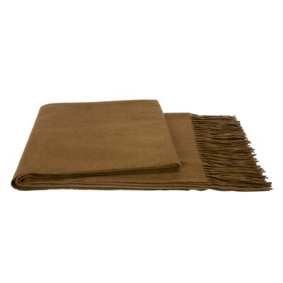 Water Weave Cashmere Throw Color: Cappucino