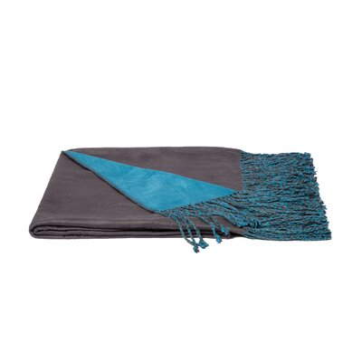 Rayon from Bamboo Throw Color: Pewter / Blue Oasis