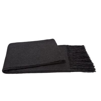 Water Weave Cashmere Throw Color: Charcoal Gray