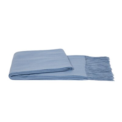 Wool Blend Throw Color: Baby Blue