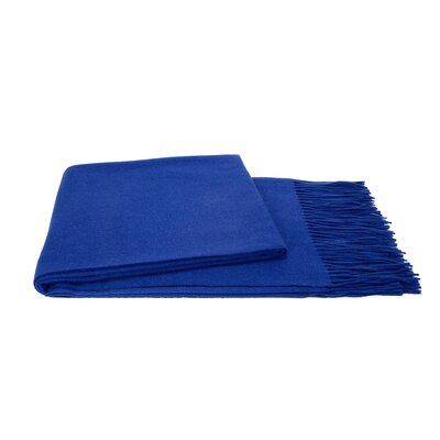 Water Weave Cashmere Throw Color: Cobalt