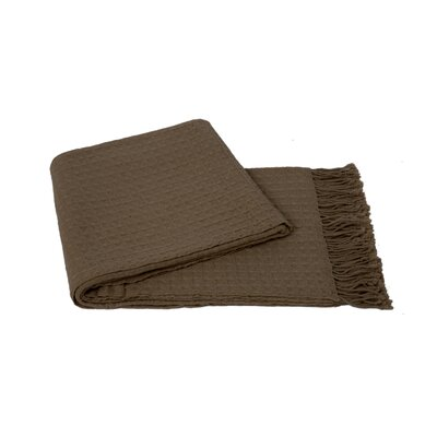Waffleweave Wool Blend Throw Color: Sand