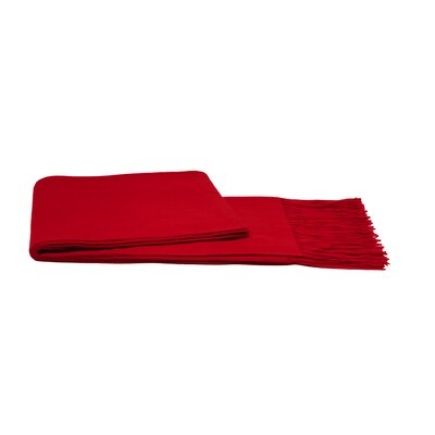 Water Weave Cashmere Throw Color: Crimson