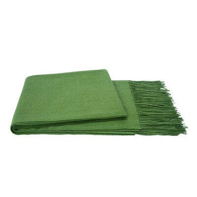 Wool Blend Throw Color: Emerald Green