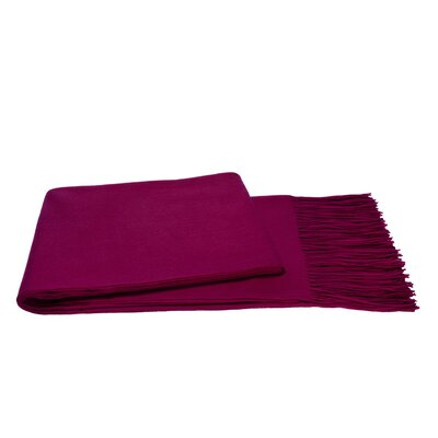 Wool Blend Throw Color: Raspberry