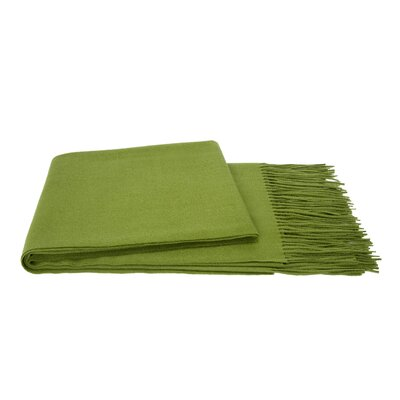 Water Weave Cashmere Throw Color: Grass