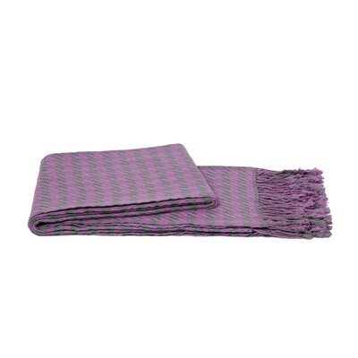 Houndstooth Throw Color: Gray / Pink