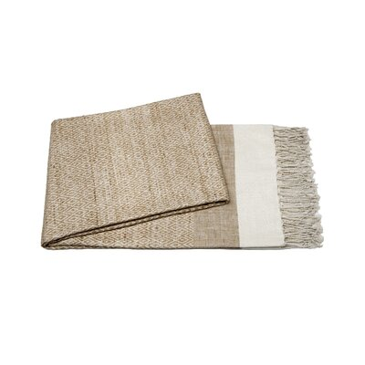 Handmade Silk Throw Color: Beige