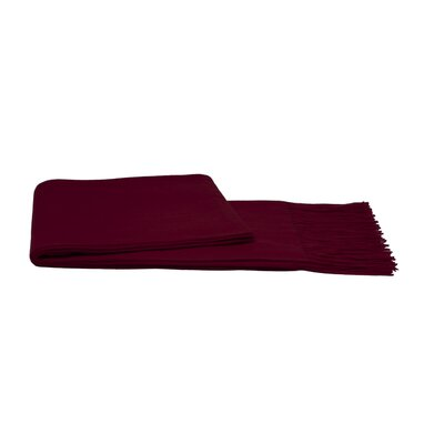 Water Weave Cashmere Throw Color: Merlot