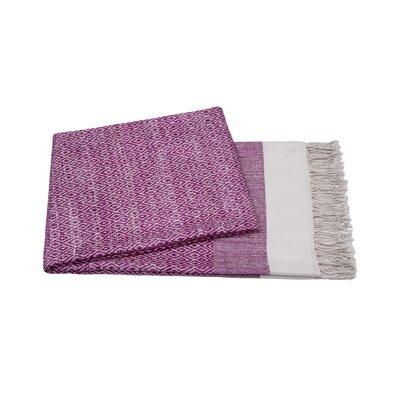 Handmade Silk Throw Color: Magenta