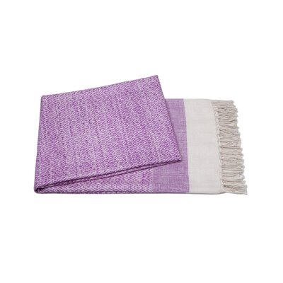 Handmade Silk Throw Color: Lilac