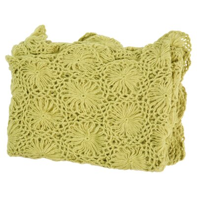Cashmere and Olefin Throw Color: Green Oasis